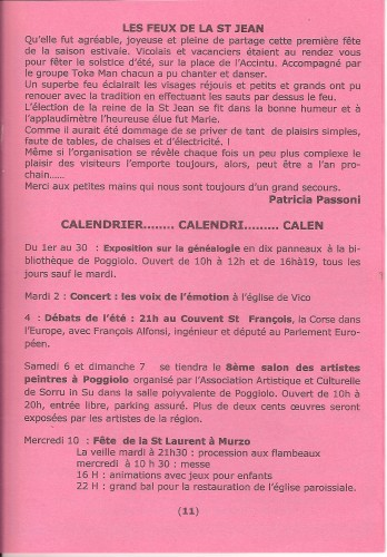 st jean, calendrier