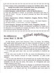 billet spirituel, franceschetti, prière,carême